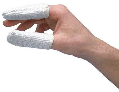 Heat Resistant Finger Cots, White, PK12