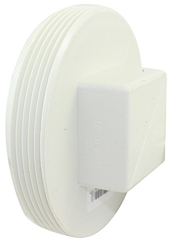 4in Pvc Threaded Plug - Canplas 414244BC PVC Sew 4 T Plug
