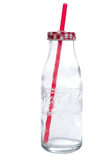 Gibson 6 Piece Coca Cola Country Classic Bottle Glass Set, 15 oz, Clear