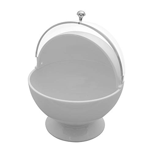 Gourmet Art Acrylic Roll Top Serving Bowl, Bright White