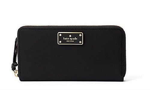 Kate Spade Wilson Road Neda Black Zip Around Wallet Wlru3329