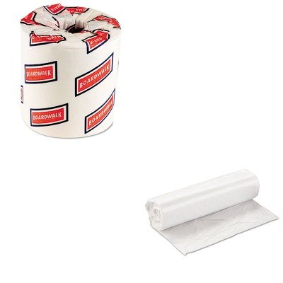 KITBWK6150IBSVALH3037N10 - Value Kit - Integrated Bagging Systems VALH3037N10 Natural Can Liners, 20 - 30 Gallons (IBSVALH3037N10) and Boardwalk 6150 Two-Ply Bathroom Tissue (BWK6150)