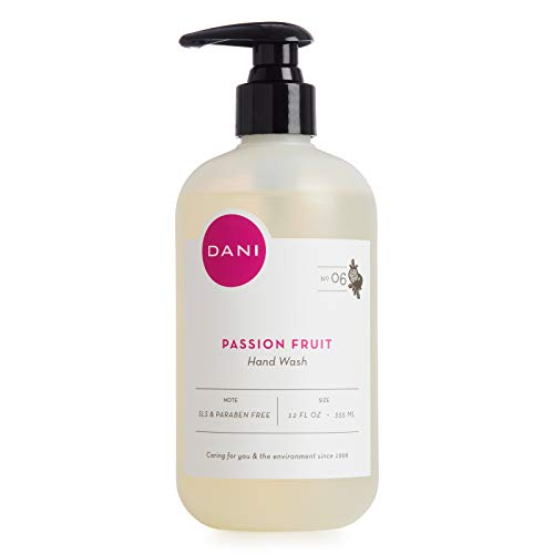 Natural Moisturizing Liquid Handwash by DANI Naturals - Juicy Passion Fruit Scented - Antibacterial Soap with Organic Aloe Vera - 12 Ounce Bottle Pump ()