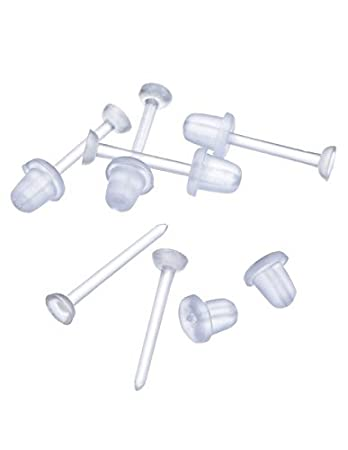 Amazoncom Clear Plastic Ear Piercing Retainers 6 Pairs