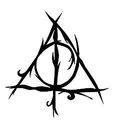 Deathly Hallows Harry Potter Black Decal Vinyl Sticker|Cars Trucks Vans Walls Laptop| Black |5.5 x 5.5 - Harry Potter To Costume Make How Easy A
