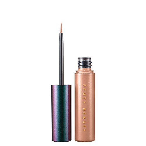 (1) FENTY BEAUTY BY RIHANNA Eclipse 2-In-1 Glitter Release Eyeliner- COLOR: Later, Crater - nude metallic / nude gold glitter