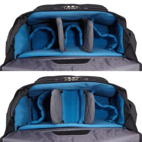 The foam storage of the Case Logic DSM-103 Large DSLR + iPad Messenger Bag