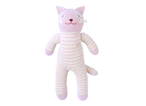 Rose Blabla - Blabla Rose The Cat Mini Plush Doll - Knit Stuffed Animal for Kids. Cute, Cuddly & Soft Cotton Toy. Perfect, Forever Cherished. Eco-Friendly. Certified Safe & Non-Toxic.