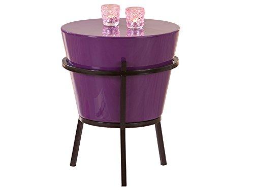 Inter Link 99801420 Beistelltisch Wohnzimmertisch Nachttisch Tisch Wohnzimmer rund lila modern NEU