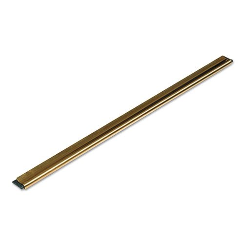 Unger Golden Clip Brass Channel W/Black Rubber Blade & Clip, 18In, Straight, 10/CT