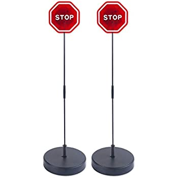 Amazon Com Andalus Brands Flashing Led Stop Sign Garage
