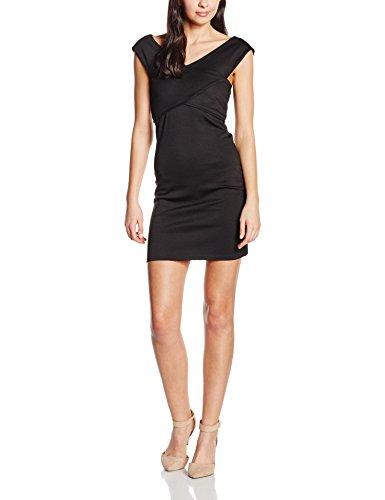 ONLY Damen Kleid onlDARIA SL WRAP DRESS ESS, Mini, Gestreift, Gr. 36 (Herstellergröße: S), Schwarz (Black)