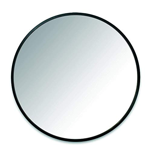 FixtureDisplays 24 Inch Round Wall Mirror for Living Rooms, Washrooms, Entryways, Doubles - Bathroom 16 Round Wide Mirrors
