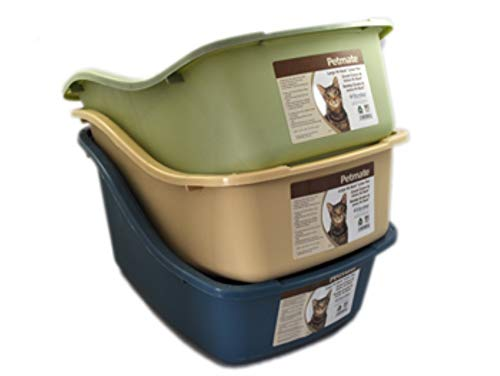 Large Product Image of Petmate Plastic Hi-Back Cat Litter Pan, Jumbo, Assorted colors