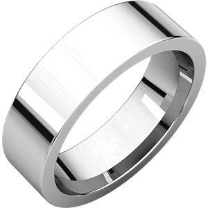 Platinum Plat 6mm Comfort Fit Band-Taille Q