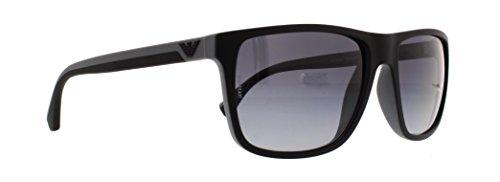 Emporio Armani EA 4033 Men's Sunglasses Black/Grey Rubber 56