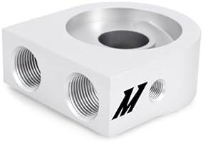 color plateado Mishimoto MMOC-U Kit de enfriador de aceite universal de 10 filas