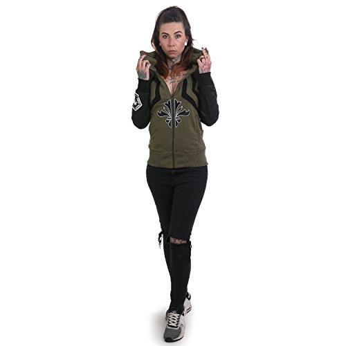 Lily Zip Donna Con Di High Foglia Maglieria Neck Vite Yakuza hoodies PAwCXqRR