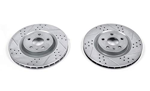 - Power Stop AR8680XPR Front Evolution Drilled & Slotted Rotor Pair