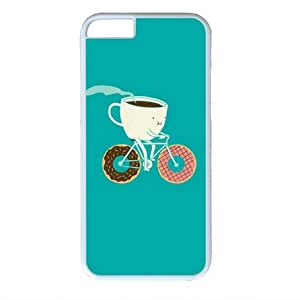 Coffee and Donut Miracaly White Sides Hard Shell Case for Iphone6 (4.7 inch)