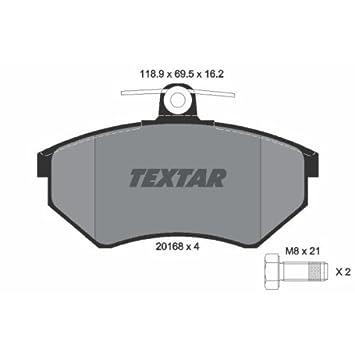 Textar 2398202 Bremsbelagsatz Scheibenbremse
