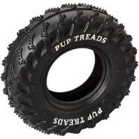 DPD PUP TREADS RUBBER TIRE - Size: 4IN - Color BLACK (Treads Pup Rubber)