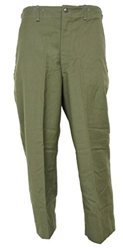 - Military Field Trousers, 100% Wool - Olive Drab - Army Issue (Small Regular)