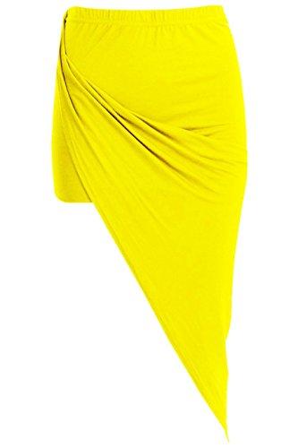 Femme Funky Jupe Jaune Argent Fashion Shop H6tqwZO6