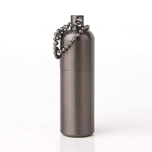 Shop Sport Dolphin HY-635 Mini Metal EDC Kerosene Lighter Keychain Refillable Fuel Portable Grinding Lighter - Grey
