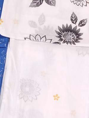 薬理学遺産満足させる女 浴衣 特殊サイズ(Lサイズ) 注染 変わり織 日本製 大きめ レディース 花柄 半