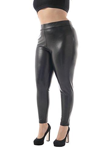 plus size leather pants - 4