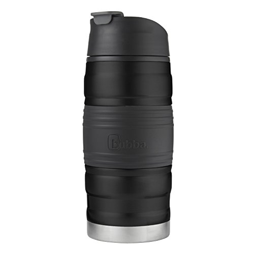 Bubba HERO Fresh Insulated Stainless Steel Travel Mug with Grip, 12 oz, Black by BUBBA BRANDS (Image #2)