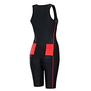 Lo.gas Women's Triathlon Trisuit Sleeved Sleeveless Skinsuit for Cycling Swimming Running