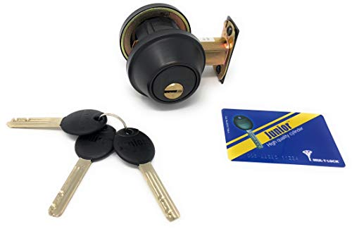 Mul-T-Lock Cronus High Security Grade 2 Single Cylinder Dead-Bolt w/Thumb Turn 2-3/8 or 2-3/4 Adjustable Backset for Commercial And Residential Metal Or Wood Doors (Oil Rubbed ()
