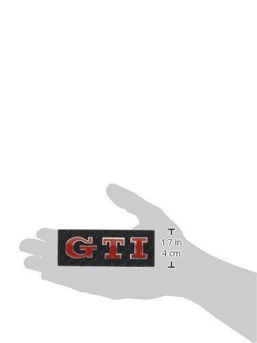 3D07229 - Rojo Emblema cromado 3D etiqueta insignia logotipo decorativo coche (3M autoadhesivo) GTI