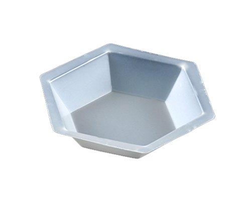 Globe Scientific 3617 Polystyrene Hexagonal Antistatic Weighing Dish, Large, 200ml Capacity (Case of 500)