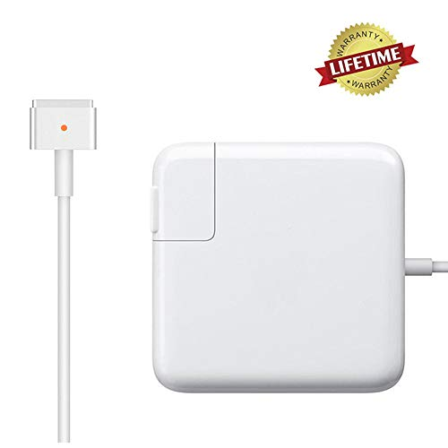 🥇 Mac Pro Charger Replacement for MacBook Pro with 13-inch 15-inch Retina Display After 2012 Ac 85W Magsafe 2 T-Tip Power Adapter Connector