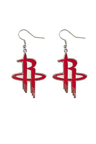 Houston Rockets Earring - NBA Houston Rockets Logo Dangler Earrings