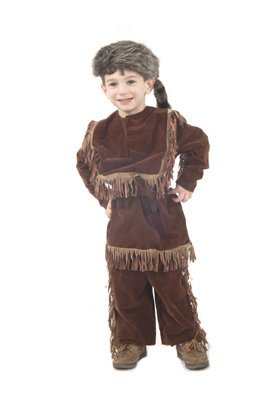 Child Daniel Boon/Davy Crockett Frontier Costume (Medium (Davy Crockett Outfit)