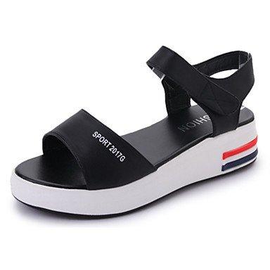 Casual Zapatillas Confort Pu Mujer De 5 amp;Amp; RTRY 5 UK5 Heelblack US7 EU38 Flops Chunky CN38 Blanco Caminar Verano Flip qF8wSFBdW