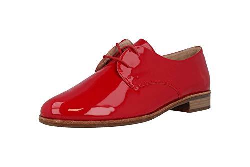 Cordones Remonte Mujer De Zapatos Rojo 33 Rosso Para Charol Er6r4q