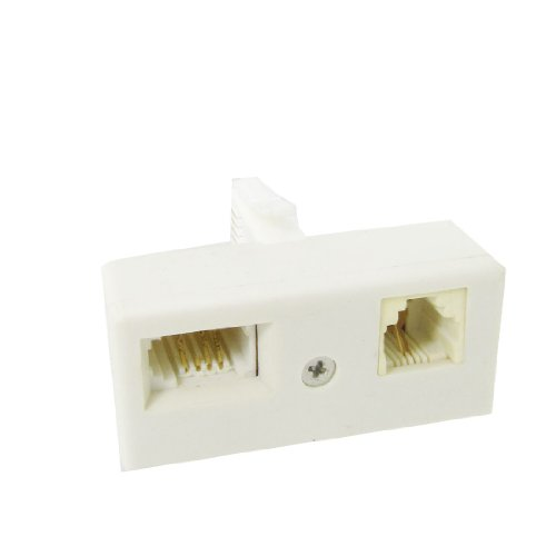 Uxcell Telephone BT Plug to RJ11 BT Socket Connector Adapter for Landline Telephone