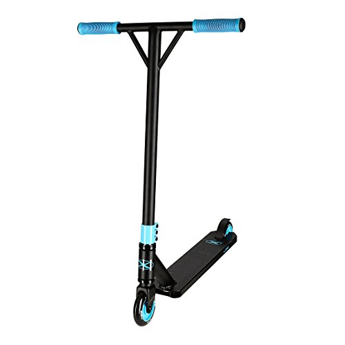 Xspec Pro Stunt Kick Scooter with Strong Aluminum Deck, Matte Black & Teal