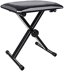Piano Bench, Electronic Organ Bench, Adjustable Seat Folding Stool Chair For Piano