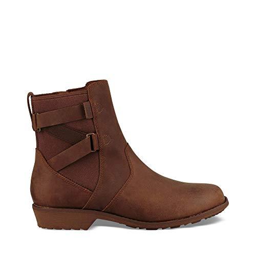 Teva Womens womens Ellery Ankle Waterproof Boots,PECAN,9.5