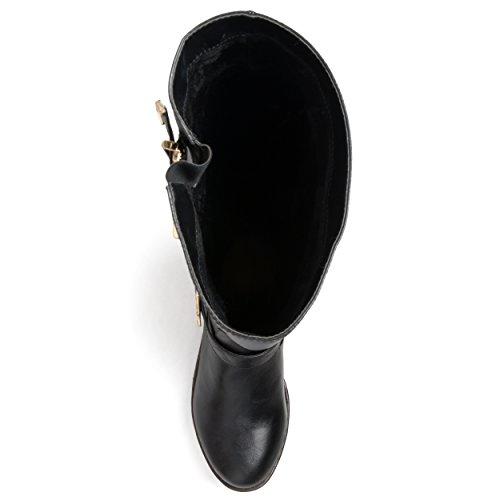 Brinley Co Womens Beth Riding Boot Regular & Wide Calf Black vfohrmtZyz