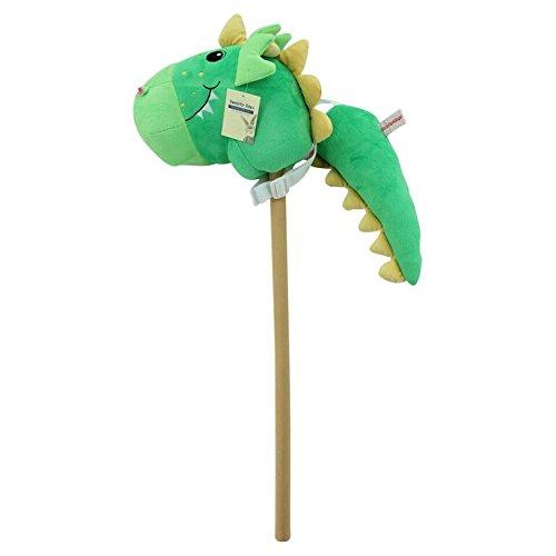 Sweety Toys 7042 conjunto caballo de madera dinosaurio- verde