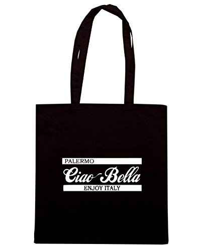 GREEN CIAO Borsa Nera Shopper BELLA OLDENG00441 PALERMO fxp7Hq