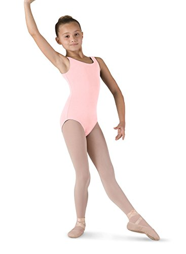 - Bloch Dance Girls Tutu Scoop Front/Back Tank Leotard, Light Pink, 6X-7