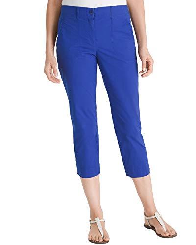 Chico's Women's Secret Stretch Straight-Leg Crop Pants Size 16/18 XL (3) Blue
